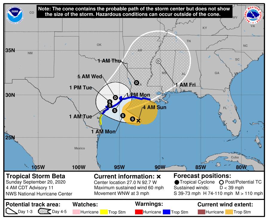 Tempesta tropicale Beta