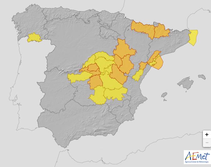 Spagna allerta