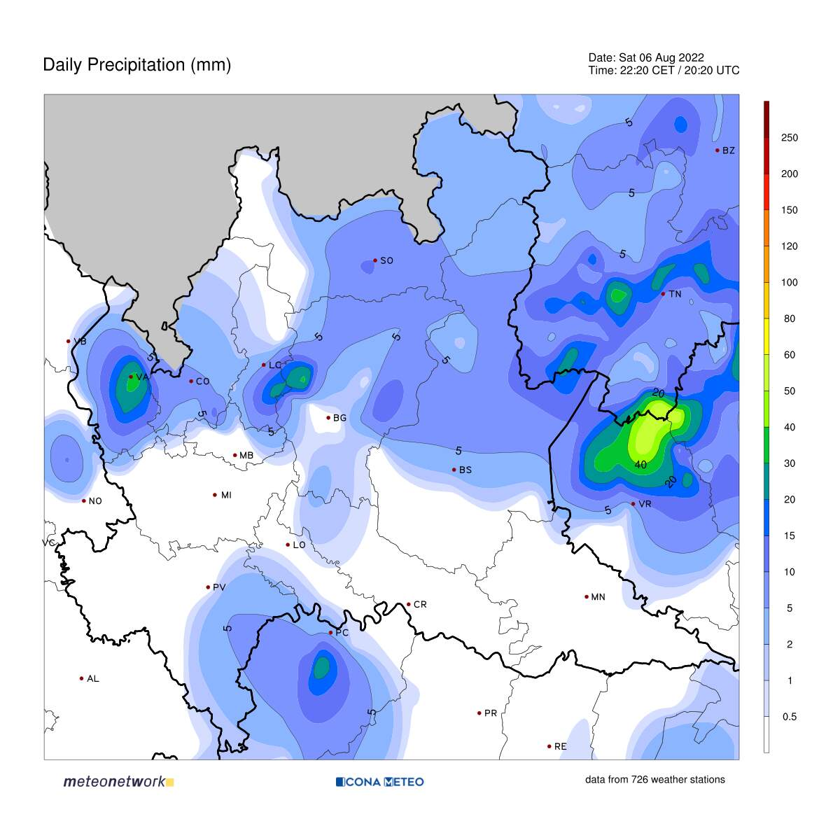 Mappe in tempo reale - Icona Meteo